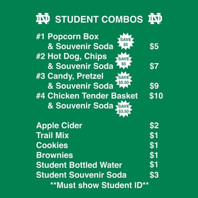 Student Government Collaborates with Stadium to Lower Student Concession Prices